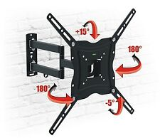 TV Wall Mount Bracket Tilt Swivel HD LCD LED PLASMA 13 18 26 32 37 40 50 DUOMAXX