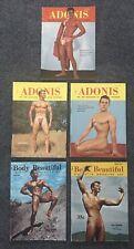 Vintage 1950's Gay Interest Beefcake Pocket Magazines - ADONIS & Body Beautiful