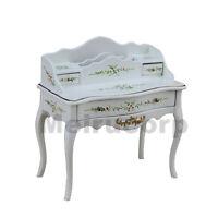 Dollhouse 1/12 Scale Miniature furniture handmade Hand painted white Escritoire