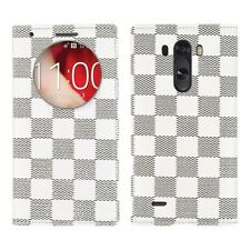 COVER CUSTODIA PELLE PER LG OPTIMUS G3 D855 QUICK CIRCLE TESSUTO CASE ULTRA SLIM