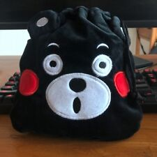 Kumamon black bear handbag drawstring anime tote makeup bags phone holder