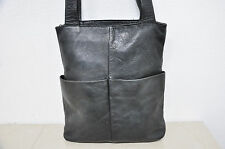 Vintage HOBO International Black Leather tote bag purse