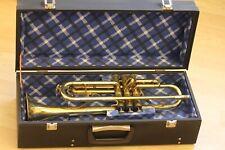 Alte Trompete WFJD-P Polmuz De Lux mit Koffer und Mundstück