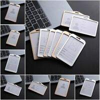 School Tag Metal Aluminum Alloy Work Card Holders Name Card ID Business Case