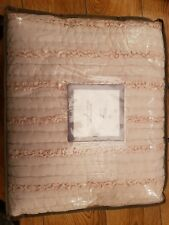marks and spencer cream ruffle throw / bedspread rrp 149