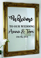Custom Personalised Wedding Mirror Wall  Event Decor Stickers Vinyl Decal Stiker