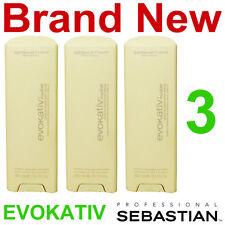 3 NEW SEBASTIAN EVOKATIV NUDIST LEAVE-IN SMOOTHING SERUM,HAIR TREATMENT