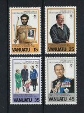 VANUATU 1981 60th Birthday of Prince Philip Duke of Edinburgh Set MNH