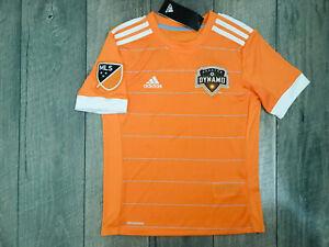 Adidas Houston Dynamo Home Replica Soccer Jersey Youth Size Small Orange NWT $65
