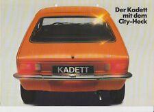 Opel Kadett City - Prospekt - 1975 deutscher Text