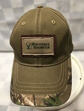 WHITETAILS Unlimited Hunting Deer Buck Camo Adjustable Adult Ball Cap Hat