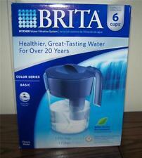 Brita Water Pitcher Blue Classic Model 6 Cups