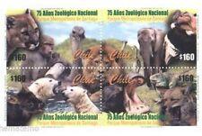 Chile 2000 #2037-40 75 años del Zoologico Nacional MNH