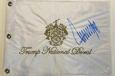 PRESIDENT DONALD J TRUMP REAL AUTOGRAPH SIGNED TRUMP GOLF FLAG JSA COA