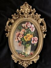 Kayvon New Oval Original Oil Painting With Italian Style Gold Hand Painted Frame