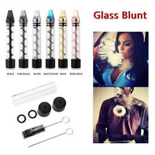 New Design 2 Series Smoking Twisty Glass Blunt Pipe Obsolete With Cleaning Kit #