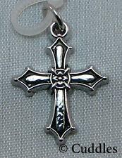 Cross Worship Life Prayer Ganz Metal Charm Bracelet Necklace Religious New