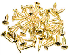 48 Pack of Pickguard Screws to fit Fender, etc, Gold Finish