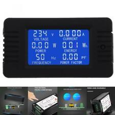 AC 6in1 220V 100A Single Phase Digital Panel Amp Volt Current Meter Watt Kwh