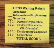 CCSS Writing Rubric, Common Core Teacher's Wood Mounted Rubber Stamp