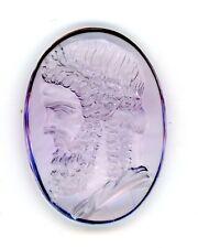 Large Roman Style Genuine Amethyst  Intaglio Signet Seal