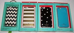 NIB LOT 4 AUTHENTIC Kate Spade iPhone 6 Cases Hybrid/Wrapped DOTS/CHEVRON/STRIPE