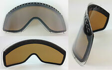 REPLACEMENT GS DARK SMOKE DUAL VENTED SNOW SKI LENS fit OAKLEY O-FRAME GOGGLES