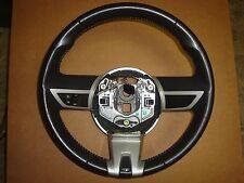 2010-11 Chevy Camaro SS Factory GM OEM Silver Black Leather Steering Wheel