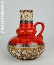 Vintage 1960-70's JOPEKO KERAMIK 402/21 Red Vase West German Pottery Fat Lava