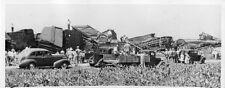 HH023 RP 1941 WRECK SANTA FE RAILROAD FREIGHT TRAIN NORBORNE MO 'DROPPED A ROD'