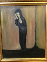 """👀 Antique Impressionist Edvard Munch Oil Painting """"The Scream"""" - WOW"""