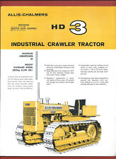 ALLIS-CHALMERS HD3 INDUSTRIAL CRAWLER TRACTOR 40HP sales technical leaflet