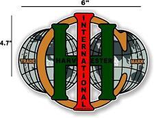 """6"""" INTERNATIONAL IH WORLD - HIT AND MISS GAS ENGINE TRACTOR STICKER"""