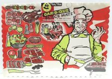 Vintage 1950s Bar B Que Paper Placemats Great Graphics Chef Betty Brite 20 Pack