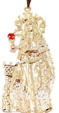 Santa Barbara Pendant with 22 inch Figaro Chain 18k Gold Plated Pendant