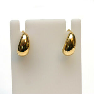 DAVID YURMAN New 18K Yellow Gold Pure Form Earrings