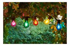 Sirius Lichterkette Tobias Erweiterung 10 LED Glas bunt außen 4,5 m schwarz