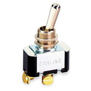 CARLING TECHNOLOGIES 2FC54-73 Toggle Switch,SPDT,10A @ 250V,Screw