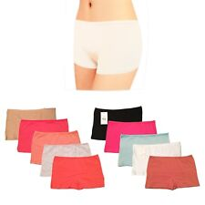 3 Pairs Ladies Plain Boxer Underwear Qualify Knickers Panties Boy Shorts Briefs
