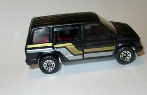 VINTAGE MATCHBOX 1984 DODGE CARAVAN TOY CAR Black - Sliding Door No Play