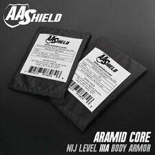AA Shield Plaque insert balistique gilet par-balles panneau aramide 5x8 paire