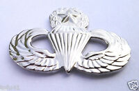 ARMY AIRBORNE PARATROOPER MASTER WINGS Military Veteran SILVER Hat Pin 14805 HO
