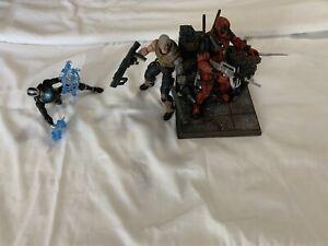 Marvel, X-Men Action Figure Lot of 3: Diamond Select Deadpool, ML Cable & Havoc