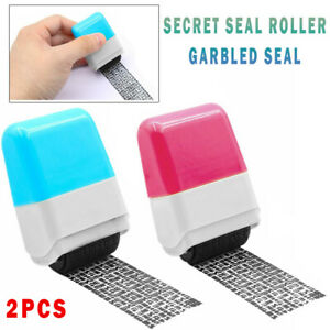 2Pcs * Identity Theft Protection Roller Stamp Privacy Confidential Guard Your ID