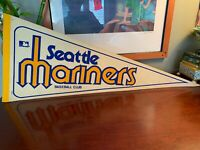 Vintage 1960's To 70's Seattle Mariners Pennant Flag Very Rare Baseball History