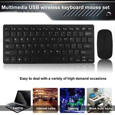 Slim 2.4GHz Wireless Keyboard and Cordless Mouse Combo Set For Desktop Laptop PC
