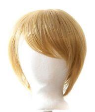 11'' Short Straight Men's Cut Long Bangs Sandy Blond Wig Cosplay NEW