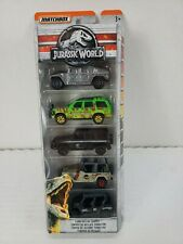 Matchbox Jurassic World 3 Lot of Collector 5 Packs 15 Vehicles Park Rescue New
