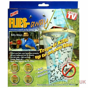 UK FLIES AWAY FLY CATCHER TRAP BAG INSECT PEST CONTROL KILLER KILL 20,000 FLIES