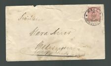 A-1229**GERMANY  1890 SINGLE FRANKED COVER HALL TO  METZINGEN